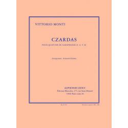 Monti, Vittorio: Czardas pour 4 saxophones partition et parties