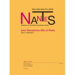 Boutilliers, Roland: Nantes : pour saxophone alto et piano