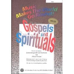 Gospels und Spirituals (+CD) : für flexibles Ensemble Flöte