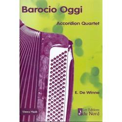 De Winne, Etienne: Barocio Ogi : für 4 Akkordeons Partitur und Stimmen