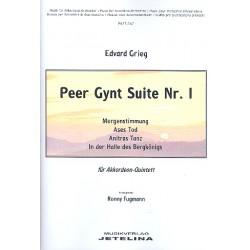 Grieg, Edvard Hagerup: Peer Gynt Suite Nr.1 : für 5 Akkordeons Partitur