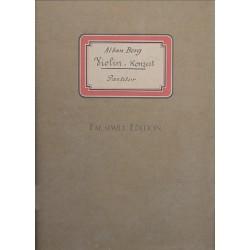 Berg, Alban: Konzert f├╝r Violine und Orchester Partitur Faksimile