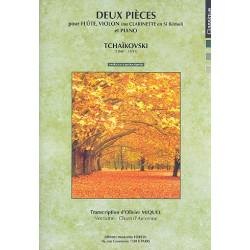 Tschaikowsky, Peter Iljitsch: 2 Pièces pour flute, violon et piano Partition et parties