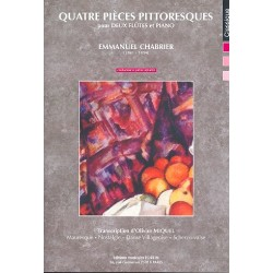 Chabrier, Alexis Emanuel: 4 pieces pittoresques : pour 2 flutes et piano partition et parties