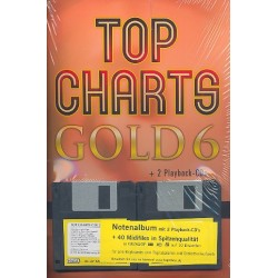 Top Charts Gold Band 6 (+Midifiles, 2CD's) : Songbook Klavier/Keyboard/Gesang/Gitarre