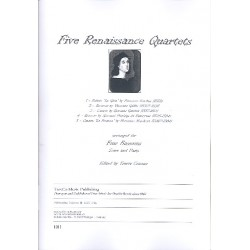 5 Renaissance Quartets : for 4 bassoons score and parts