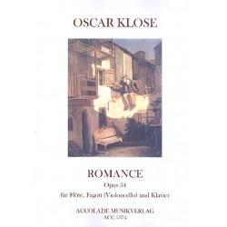 Klose, Oskar: Romance op.34 für Flöte, Fagott (Violoncello) und Kavier Partitur und Stimmen