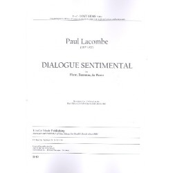 Lacombe, Paul: Dialogue Sentimental : for flute, bassoon and piano score and parts