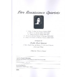 5 Renaissance Quartets : for 2 oboes, english horn and bassoon score and parts