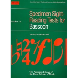 Specimen sight reading tests Grades 1-5 for bassoon