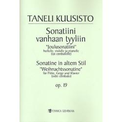 Kuusisto, Taneli: Sonatine im alten Stil op.19 für Flöte, Violine und Klavier Stimmen