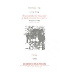 Graap, Lothar: Choralpräludien : für 2 Trompeten und 2 Posaunen Partitur und Stimmen