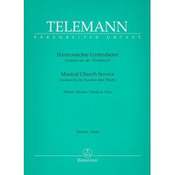 Telemann, Georg Philipp: Harmonischer Gottesdienst : für Gesang, Melodieinstrument und Bc Partitur
