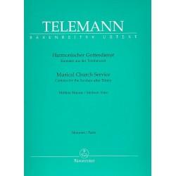 Telemann, Georg Philipp: Harmonischer Gottesdienst : für Gesang, Melodieinstrument und Bc Stimmen