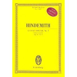 Hindemith, Paul: Kammermusik Nr.5 op.36,4 : für Viola und Kammerorchester Studienpartitur