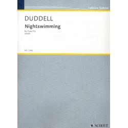Duddell, Joe: Nightswimming für Violine, Violoncello und Klavier Stimmen