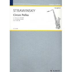 Strawinsky, Igor: Circus Polka für 4 Saxophone (SATBar) Partitur und Stimmen