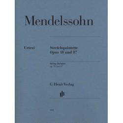 Mendelssohn-Bartholdy, Felix: Streichquintette op.18 und op.87 : f├╝r 2 Violinen, 2 Violen und Violoncello Stimmen