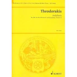 Theodorakis, Mikis: Andalucia für Männerstimme und Orchester Partitur