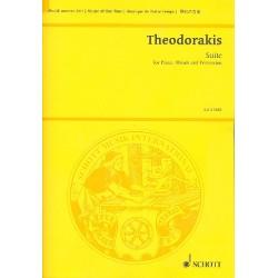 Theodorakis, Mikis: Suite : für Klavier, Holzbläser und Percussions Partitur