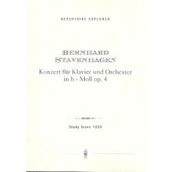 Stavenhagen, Bernhard: Konzert h-moll op.4 für Klavier und Orchester Studienpartitur