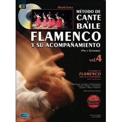 Leiva, David: Metodo de Cante y Baile Flamenco y su accompanimento vol.4 (CD) : para canto y guitarra