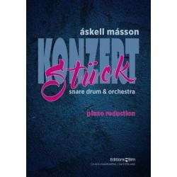 Másson, Áskell: Konzertstück für Kleine Trommel und Orchester für Kleine Trommel und Klavier