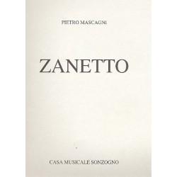 Mascagni, Pietro: Zanetto Klavierauszug