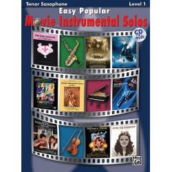 Easy popular Movie Instrumental Solos (+CD) : for tenor saxophone