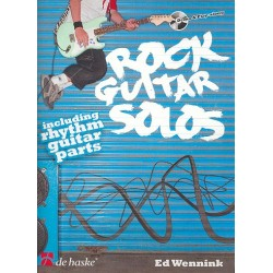 Wennink, Ed: Rock Guitar Solos (+CD) : for guitar/tab (Rhythmusgitarre ad lib)