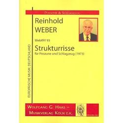 Weber, Reinhold: Strukturrisse WebWV93 : für Posaune und 2 Schlagzeuge Partitur und Stimmen