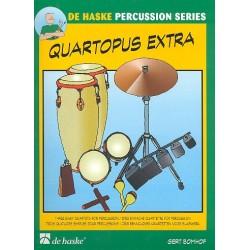 Bomhof, Gert: Quartopus extra : f├╝r 4 Perkussionisten Partitur und Stimmen