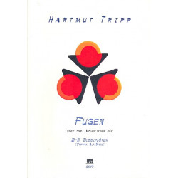 Tripp, Hartmut: Fugen über drei Volkslieder (+CD) : für 2-3 Blockflöten (SAB) Partitur und Stimmen