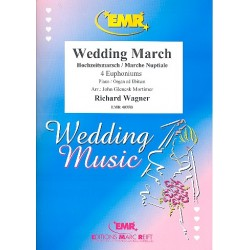 Wagner, Richard: Wedding March : for 4 euphoniums (piano/organ ad lib) score and parts
