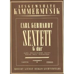 Gerhardt, Carl: Sextett G-Dur für Flöte, Englischhorn, Fagott, Violine, Viola und Violoncello Stimmen