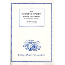 Cambridge Consorts - Pavans and Galliards : for 5 instruments (viols /recorders) score and parts