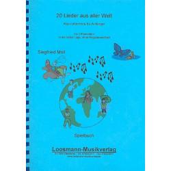 20 Lieder aus aller Welt : f├╝r 3 Klarinetten Spielpartitur