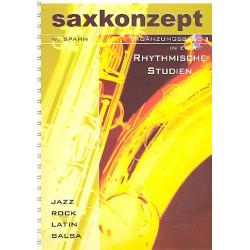 Spahn, W.: Saxkonzept (+CD) : Ergänzungsband 1 für 1-2 Saxophone in Es und B