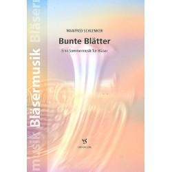 Schlenker, Manfred: Bunte Blätter : für Jungbläser, Blechbläser- Ensemble und Pauken (Solotrompete ad lib) Partitur